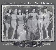 Short, Dark, & Hairy, The Ladies Love Itt! (for/with lighter background) by torg