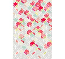 CUBE PINK Photographic Print