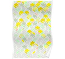 CUBE YELLOW Poster