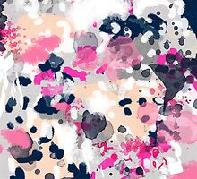 Nico - Abstract painting in pink, blush, navy, modern trendy colors by charlottewinter