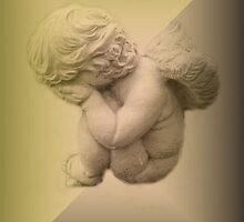 Weeping Cherub ~ Angel by Marie Sharp