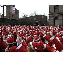 Will the real Santa Claus put their hand up? Photographic Print