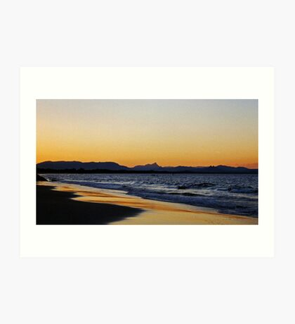sunset in Byron Bay Art Print
