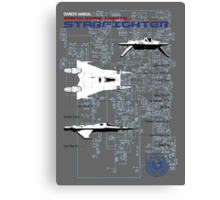 Owners Manual - Earth Directorate Starfighter Canvas Print