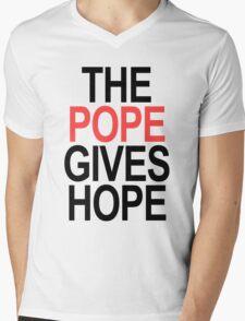 The Pope Gives Hope Mens V-Neck T-Shirt