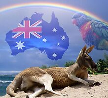 Kangaroo and Lorikeet by Erika Kaisersot