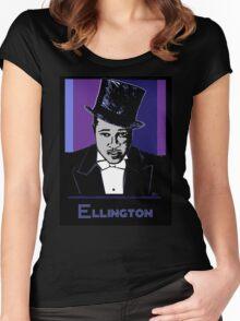 Duke Ellington Portrait Women's Fitted Scoop T-Shirt