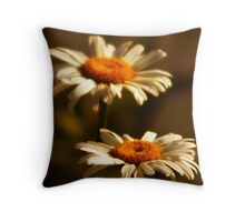 Front Yard Daisies Throw Pillow