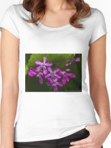 Small Purple Blossoms  Women's Fitted Scoop T-Shirt