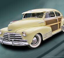 Late 1940s? Chevy Woody Sedan by Chuck Cannova