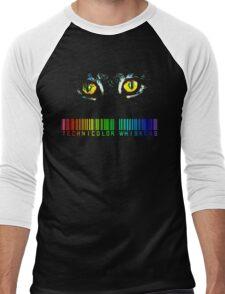 Technicolor Whiskers Men's Baseball ¾ T-Shirt