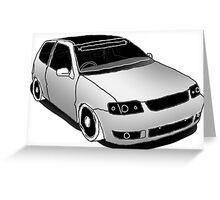 VW Polo 6n2, minimal digital sketch Greeting Card