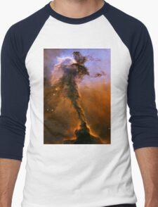 Yellow Galaxy Men's Baseball ¾ T-Shirt