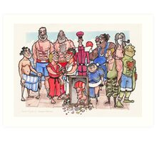 Street Fighter 2 - Reunion Edition Art Print