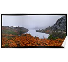 Twisted Lakes in Autumn Mist Poster