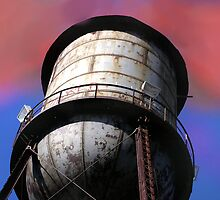 Old Cotton Mill Water Tower by gayle hoskins-nestor