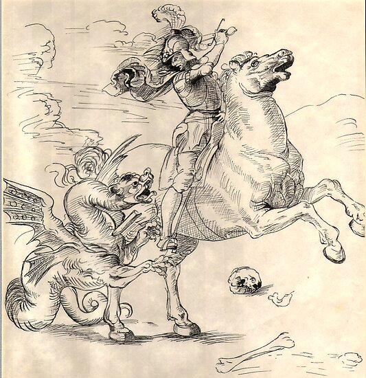 Saint George and the Dragon by Celinda