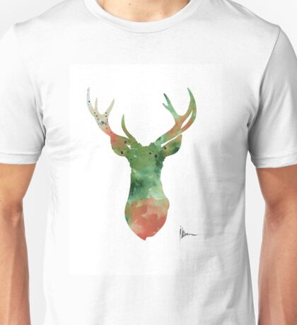 Deer head watercolor large poster Unisex T-Shirt