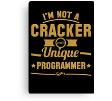 Programmer : I'm not a cracker, i'm a unique programmer Canvas Print