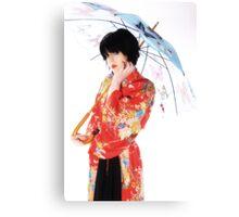 Red kimono Canvas Print