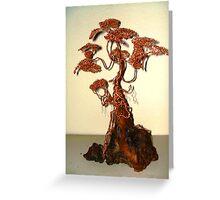 Copper Bonsai Greeting Card