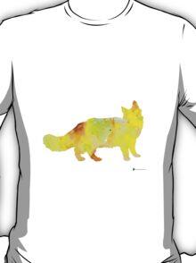 Maine coon cat silhouette art poster T-Shirt