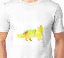 Maine coon cat silhouette art poster Unisex T-Shirt