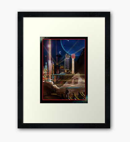 Neon City Framed Print