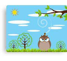 Owl — Angry Scene Canvas Print