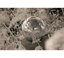 Infrared Crystal Ball Self Portrait Photographic Print