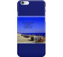 Colourful Deck Chairs in the Wind iPhone Case/Skin
