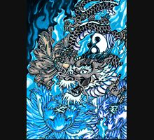 Japanese dragon with blue frame  Unisex T-Shirt