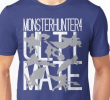 Monster Hunter 4 Ultimate - Crew 2 (white text) Unisex T-Shirt