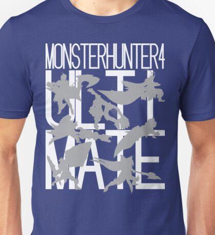 Monster Hunter 4 Ultimate - Crew 2 (white text) Unisex T-Shirt