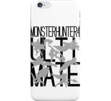 Monster Hunter 4 Ultimate - Crew 2 (black text) iPhone Case/Skin