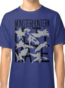Monster Hunter 4 Ultimate - Crew 2 (black text) Classic T-Shirt