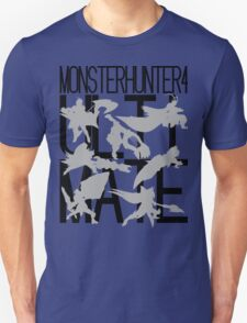 Monster Hunter 4 Ultimate - Crew 2 (black text) Unisex T-Shirt