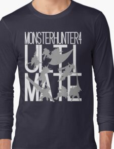 Monster Hunter 4 Ultimate - Crew (white text) Long Sleeve T-Shirt