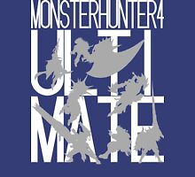 Monster Hunter 4 Ultimate - Crew (white text) Unisex T-Shirt