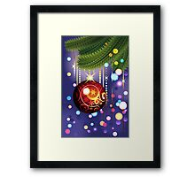 Red Ball and Branches Framed Print
