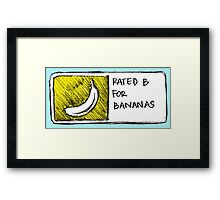 B for Bananas Framed Print