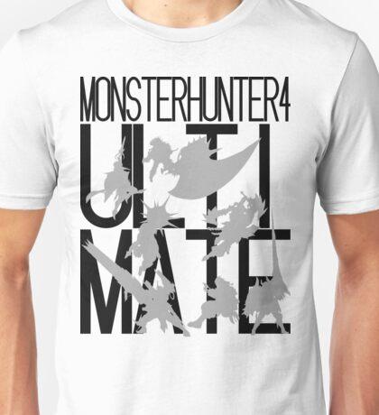 Monster Hunter 4 Ultimate - Crew (black text) Unisex T-Shirt