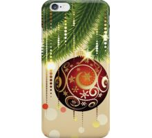 Red Ball and Branches 3 iPhone Case/Skin