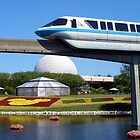 Epcot Monorail by DJ Florek