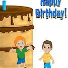 Big Cake Card by shanmclean
