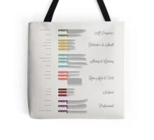 Types of Knives Infographic Tote Bag