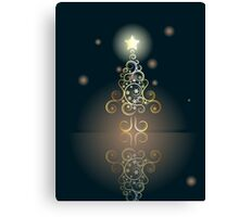 Card with Decorative Christmas Tree 2 Canvas Print