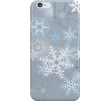 Snowflakes background iPhone Case/Skin