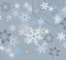 Snowflakes background by AnnArtshock