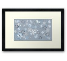 Snowflakes background Framed Print